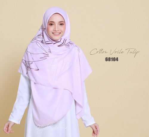 COTTON VOILE TULIP 68104